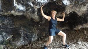 women in cave